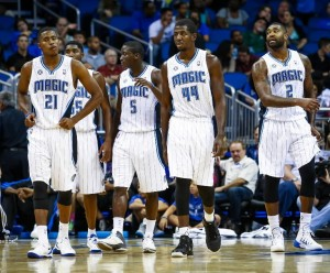 Maurice Harkless, E'twaun Moore, Victor Oladipo, Andrew Nicholson, and Kyle O'Quinn. (Photo Credit:   Orlando Sentinel)