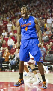 Patric Young getting pumped up in a game against Arkansas in 2012. (Wesley Hitt/Getty Images)